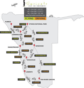 Fly-In Safaris Namibia - Route Map